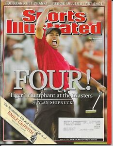 Sports Illustrated TIGER WOODS 2005 MASTERS PMS - Personal Mail Sticker MINT