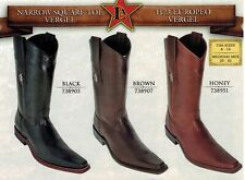 Los Altos Men's Narrow Square Toe Vergel Pull Up Cowboy Western Boots