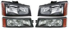 New Dot Head Light & Turn Signal Lamp Set / 2003-2004 Chevy Silverado