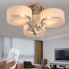 E27 LED Kristall Deckenleuchte Wohnzimmer Kronleuchter Lampe RGB Fernbedienung