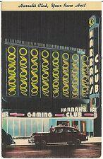 Harrah's Club in Reno NV Postcard