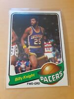 1979/80 Topps #51 BILLY KNIGHT Indiana Pacers Basketball Card, Guard, Forward.