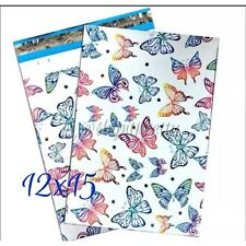 """20 Beautiful Rainbow Butterflies 12""""x 15"""" easy Gift Wrapping Poly Mailer Bag"""