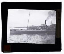 SUISSE BATEAU SUR LE LAC 1910 Plaque photo positive 8,5X10