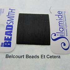 Black Silamide 2 Ply Waxed Nylon Thread  40 Yards East to Use Excellent Quality