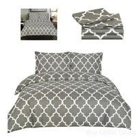 Queen Bedding Set Cover 2 Pillow Shams 3 Piece Set Brushed Microfiber Grey New