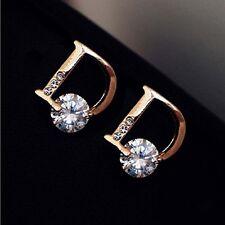 Fashion Gold Ear Stud Earings Letter D Chic Vogue Stud Earrings Women Jewelry CC
