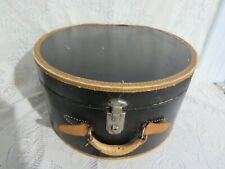 Vintage Cardboard Hat Box Black Brown Trim