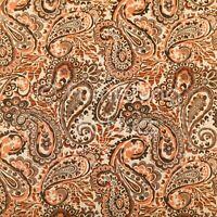 All Over Paisley Pattern Orange Couleur Bleu Chenille Ameublement Rideau tissus