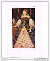 CATHERINE DE MEDICI, ANON, ITALO-FRENCH, c1555, HISTORIC COSTUME, BOOK ILLUST