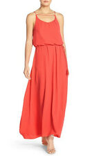 PAPER CROWN by Lauren Conrad 'Carlsbad' Crepe Gown Orange Sz XL NEW