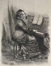 ORIGINAL SURREAL ART Antique New Basset hound upright baby grand piano keyboard
