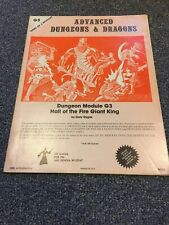 G3 - Hall of the Fire Giant King - Module Dungeons & Dragons AD&D D&D