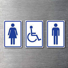 Male Female Disabled Toilet Signs 150mm high 3 piece non fade waterproof