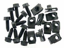 Ford Flange Head Bolts & U-Nuts- M8-1.25mm Thread- 13mm Hex- Qty.10 ea.- #389