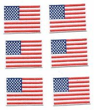 Embroidery Patch: Set of 6 Pocket Size Patriotic USA American Flag