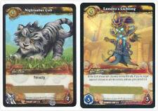 WOW World of Warcraft TCG Loot Cards Nightsaber Cub + Landro's Lichling WOW Pet