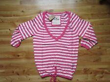 Hollister Watermelon Stripe S V-Neck 3/4 Sleeve Light Sweater Top NWT  Pretty!