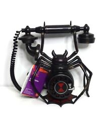 Spooky Talking Antique Style Spider Phone Halloween Prop Lights Up Rings New