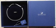 Genuine Swarovski Tennis Necklace, White, Rhodium Plated 5007747