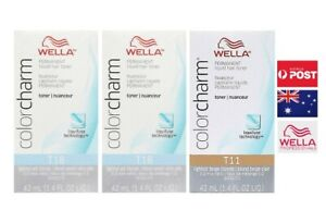 Wella Color charm 2x T18 Lightest Ash Blonde Hair Toner 1x T11 Lightest beige