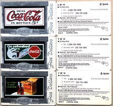 set of 10 mint SCORE BOARD COCA-COLA PHONE CARDS - COKE NATIONAL ´96 $ 5 SILVER