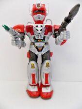 Zadak 1990's Son A1 Toys Robot EUC Walk/Talk/Spin Red/Silver Green/Visor/Laser