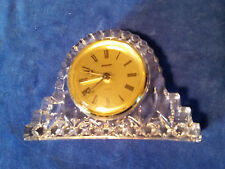 "STAIGER Crystal Clock Quartz  Made in Germany 5 1/2""x3 1/2"""