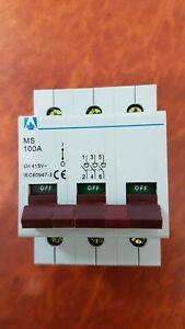 Main Switch 3 Pole 100A Switchboard Electrical Supplies