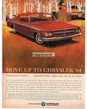 1964 Chrysler 300 2-Door Hardtop art Automobile Car Vtg Print Ad