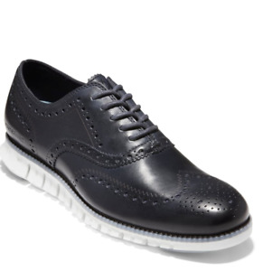 cole haan zerogrand oxford wingtip size 10 crystal blue