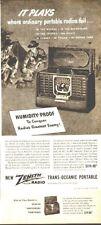 1947 Zenith Trans Oceanic Portable Radio ad