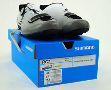 Shimano SH-RC7 Road Carbon Cycling Shoes,White, 44 / 9.7