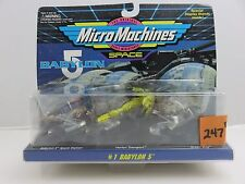 Micro Machines Space 65621 BABYLON 5 #1 Green Ship Space Station NEW 1994 Galoob