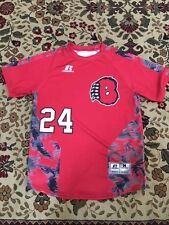 Boys Youth Medium Russell Pro Lacrosse New! Sublimated