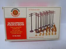 Bachmann 1931 Telephone Poles and Signs (36 pcs) O Scale