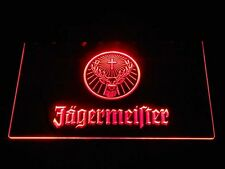 Red Jagermeister Deer Head Led Neon Sign 12x8 Inches bar pub mancave