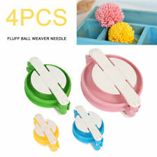 4 Pcs Pom pom Maker kit Fluff Ball Weaver Needle Knit Craft bobble Tool 4 Sizes