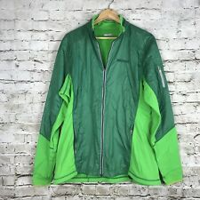 Men's Marmot Pertex Quantum Green Zip Up Base Layer Jacket Size XL