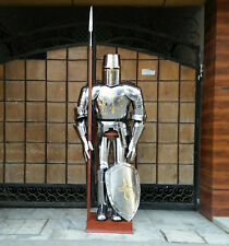 Unidecor Medievial Kinght Crusader Full Suit Steel Armor With Shield Reenactment