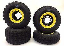 DWT G2 Beadlock Rims + V3 MX Tires Front Rear Kit Honda TRX450R TRX250R 400EX