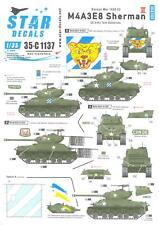 Star Decals 1/35 U.S. M4A3E8 SHERMAN TANK U.S. Army Tank Battalions KOREAN WAR