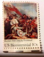 '75 USA Bicentennial 1776-1976 Celebration 10 Cent Stamp Battle Bunker Hill 1775