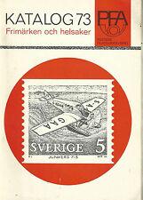 POSTENS FILATELIAVDELNING KATALOG 73 - SWEDISH POSTAGE CATALOG 1973