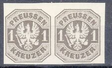 Prussia, Sc#23, VF MOG, 1 Kr Official Black PROOF PAIR, *RARE*, Germany