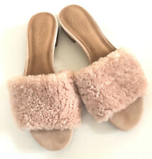 MADEWELL Open Toe Pink Fur Sandals Size 9.5