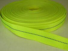 10 feet 1 inch HOT YELLOW tubular nylon Webbing
