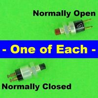 GrayHill Momentary Push Button Switches, 30-1 SPST NO Red & 30-2 SPST NC Black
