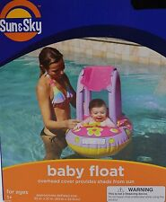 Sun & Sky Pink Princess Baby Boat Float Overhead Cover Shade Swimming Floaty
