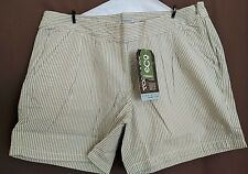 Nwt Toad & Co. Seersucka Organic Cotton Short Light Ash Size 8